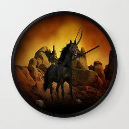 The Dark Unicorn Wall Clock