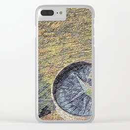 map with wind rose Clear iPhone Case