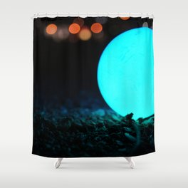 Light and Focus (Blue) Shower Curtain
