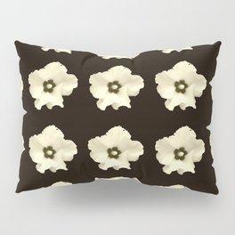 Sepia flower -bloom,blossom,petal,floral,leaves,flor,garden,nature,plant. Pillow Sham