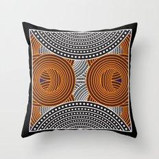 Modern Aboriginal Throw Pillow