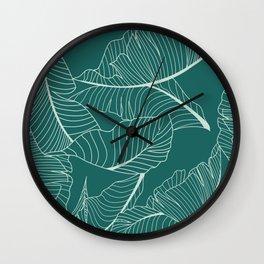 Home Palm Leaf pattern Wall Clock