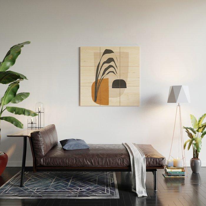 Abstract Shapes 3 Wood Wall Art