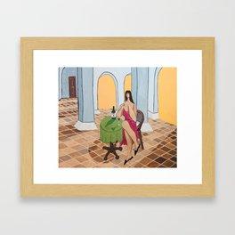 Terracotta Hangover Framed Art Print