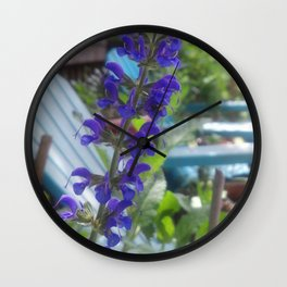 Salvia Wall Clock