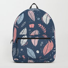 A Frolic Of Flowers And Leaves In A Perfectly Pretty Pastel Pattern Backpack