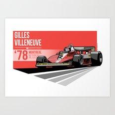 Gilles Villeneuve - 1978 Montreal Art Print