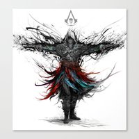 assassins creed Canvas Prints featuring assassins creed by ururuty