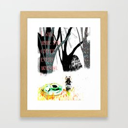 good morning my dear Framed Art Print