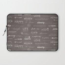 Life on a Chalkboard Laptop Sleeve