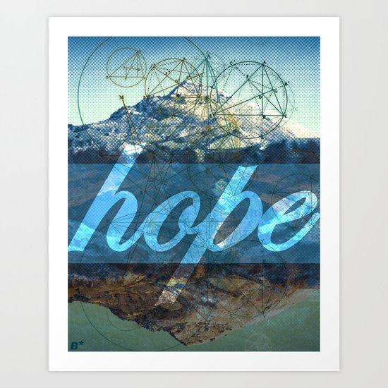 HOPE (1 Corinthians 13:13) Art Print