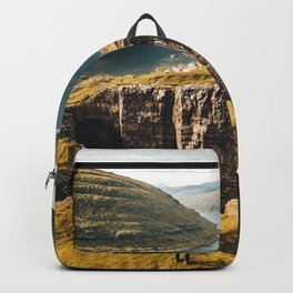 hiker at the faroe Backpack