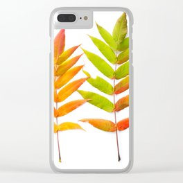 Rainbow Sumac for Autumn in Canada Clear iPhone Case