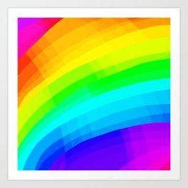 Crisscross Rainbow Design Art Print