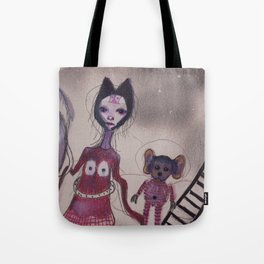 strange family Tote Bag