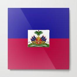 Haiti flag emblem Metal Print