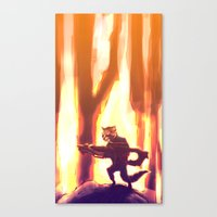 rocket raccoon Canvas Prints featuring Rocket Raccoon by Mimi JJ