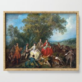 Nicolas Lancret Picnic after the Hunt Serving Tray