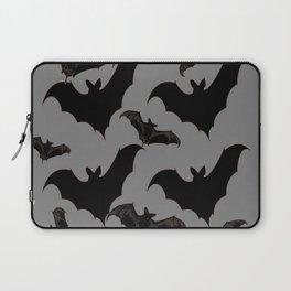 HALLOWEEN BATS ON CHARCOAL GREY WILDLIFE ART Laptop Sleeve