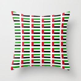 flag of UAE -united arab Emirates,Abu dhabi, dubai,emirati,الإمارات Throw Pillow