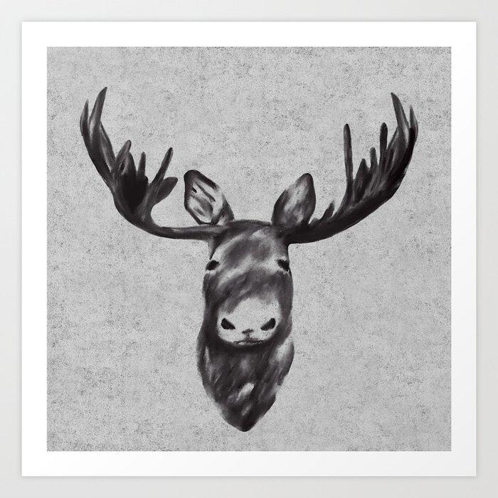 Beautiful Moose Head Design Art Print