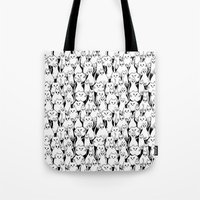 army Tote Bags featuring Cat Army by From Flora With Love