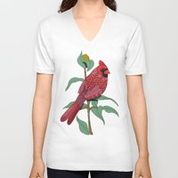 virginia V-neck T-shirts featuring Virginia Cardinal by ArtLovePassion
