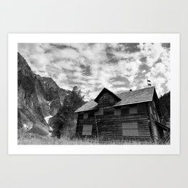 Enchanted Valley Chalet Art Print