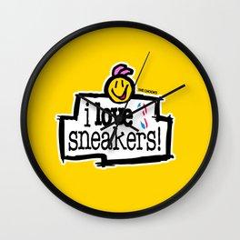 I love sneakers Wall Clock