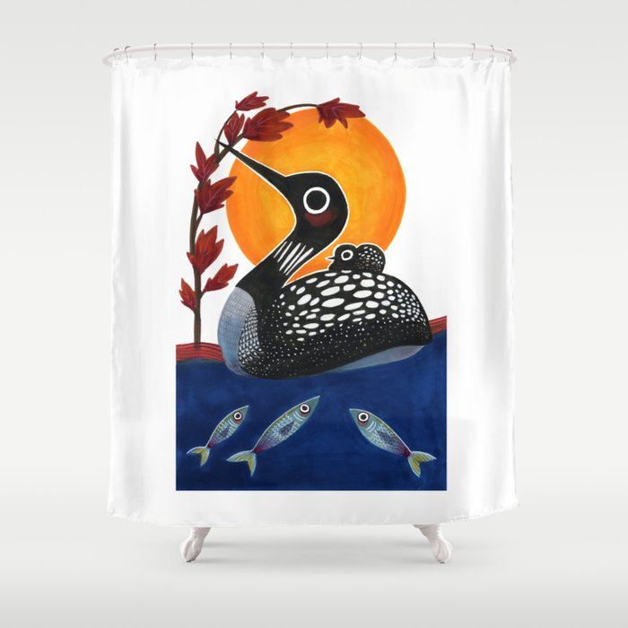 Baby Loon Shower Curtain By Jenniferprior