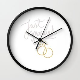 Just Married 50 Years Ago Marriage Wall Clock