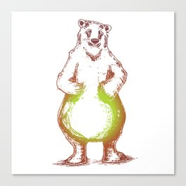 grizzly pear Canvas Print