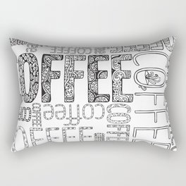 Color-in coffee typography art coloring page Rectangular Pillow