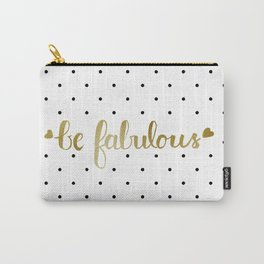 Be Fabulous Gold Polka Dots Carry-All Pouch