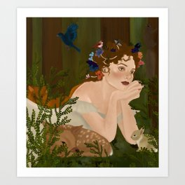 Mielikki, Finnish goddess of the forest Art Print