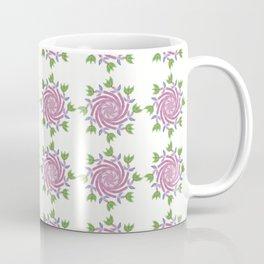 Swirls & Flowers-Pink Coffee Mug
