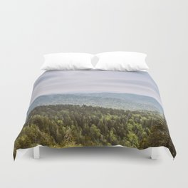 Blue Smoke Mountains Duvet Cover
