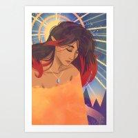 Klimt Inspired Kiara Art Print