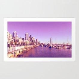 Seattle in Purple Art Print