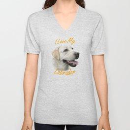 I Love My Labrador Unisex V-Neck