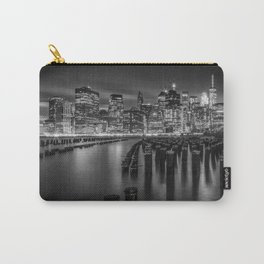Manhattan Skyline at Sunset | Monochrome Carry-All Pouch