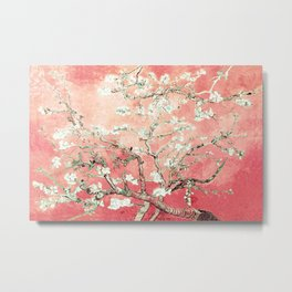 Van Gogh Almond Blossoms : Peach Metal Print