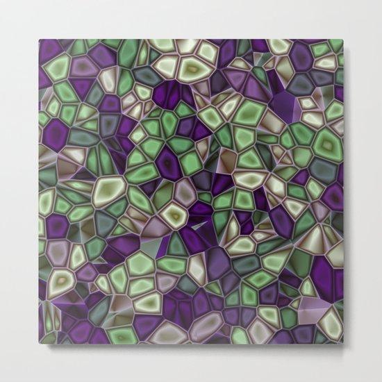Fractal Gems 02 - Purples and Greens Metal Print