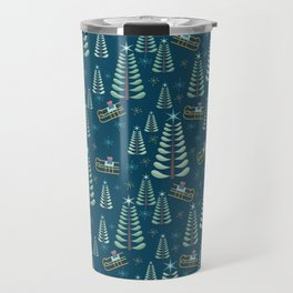 Retro Christmas Travel Mug