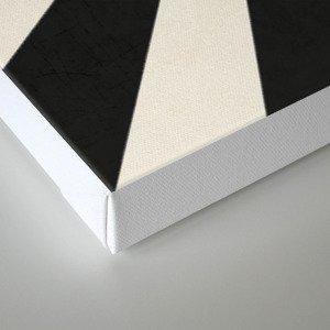 black starburst Canvas Print