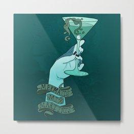 Mermaid Martinis Metal Print
