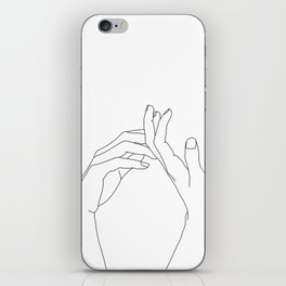 Hands line drawing illustration - Abi iPhone Skin