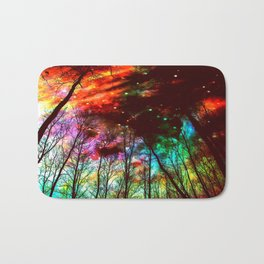Black Trees Haunting Space Bath Mat