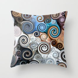 Rock Swirls Throw Pillow