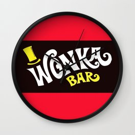Wonka's Bar Chocolate Wall Clock